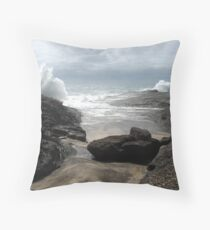 Stormy Coastline Throw Pillow
