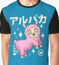 Kawaii Alpaca Graphic T-Shirt