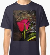 Pink Red Rose Classic T-Shirt