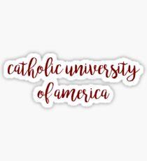 Catholic University of America / CUA Sticker