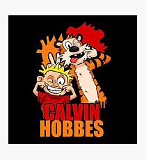 Calvin And Hobbes happy smile Photographic Print