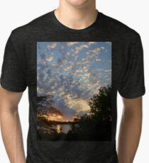 Sunset Across Mozingo Lake Tri-blend T-Shirt