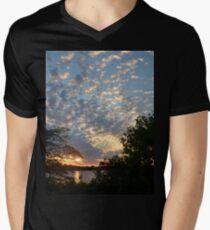 Sunset Across Mozingo Lake Men's V-Neck T-Shirt