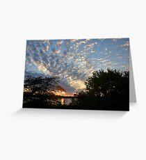 Sunset Across Mozingo Lake Greeting Card