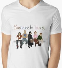 Mit freundlichen Grüßen, der Frühstücksclub T-Shirt mit V-Ausschnitt für Männer