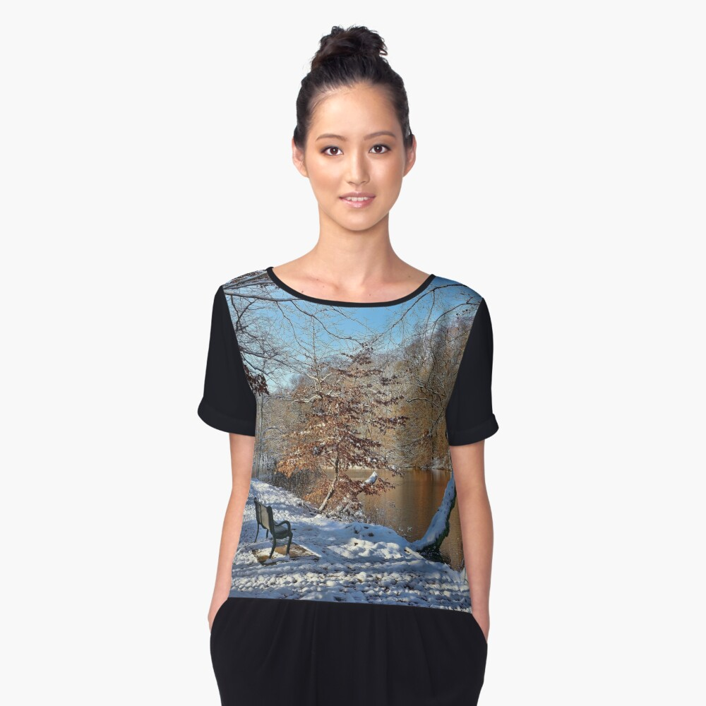 Winter Serenity Women's Chiffon Top Front