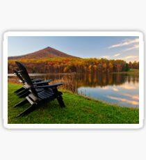Autumn Lakeside Serenity - Peaks of Otter Sticker