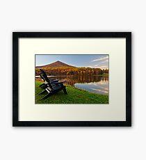 Autumn Lakeside Serenity - Peaks of Otter Framed Print