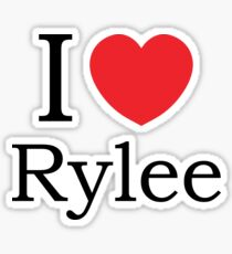 I Love Rylee - With Simple Love Heart Sticker