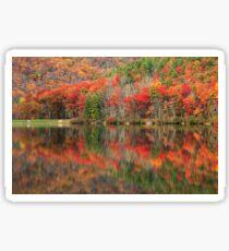 Autumn Reflections - Sherando Lake Sticker