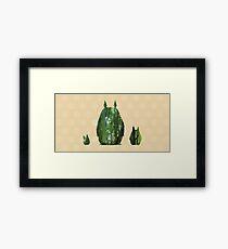 Bamboo Totoro Cutout Framed Print