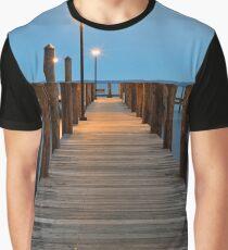 Blue Hour Pier - Havre de Grace Graphic T-Shirt