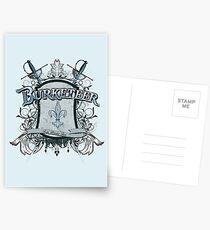 Official Burketeer Logo Badge Blue Postcards