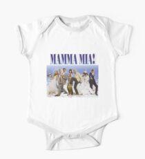 Mamma Mia Cast Poster One Piece - Short Sleeve