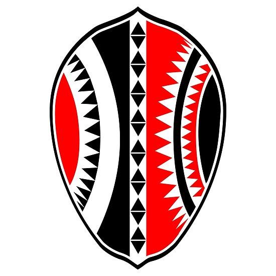 'Maasai Warrior Shield' Poster by Kevin L Brooks