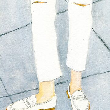 White on White Loafers by allybdesign