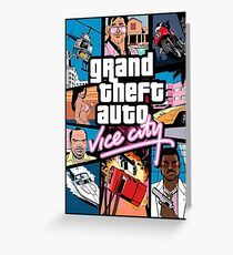 GTA - VICE CITY Greeting Card