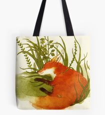 Fox Sleeping Tote Bag