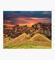 Iceland Sunset Motion Fantasy Photographic Print