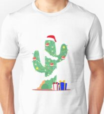 Funny Cactus Christmas Tree Desert Decorated Gifts T-Shirt