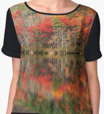 Autumn Reflections - Sherando Lake Women's Chiffon Top