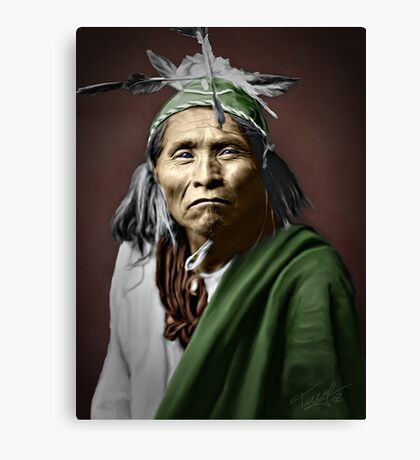 Apache Indian Canvas Print