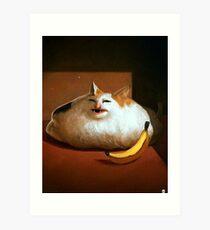 Banana Cat Art Print