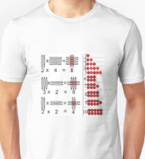 Baby Math: Visualization of Multiplication of Two Single-Digit Numbers Unisex T-Shirt
