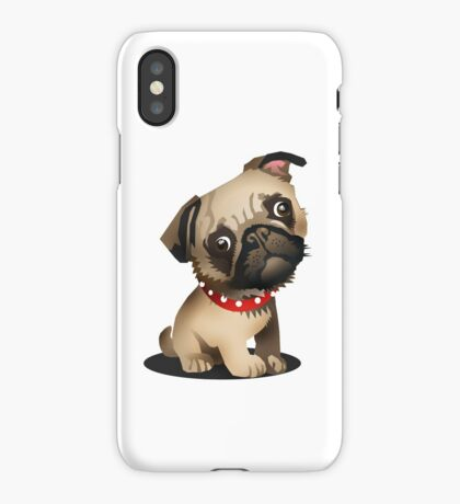 Pug pup iPhone Case