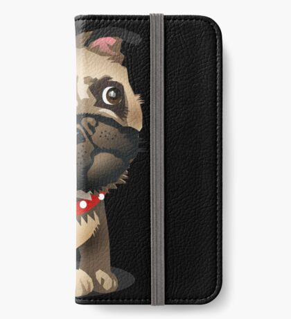 Pug pup iPhone Wallet