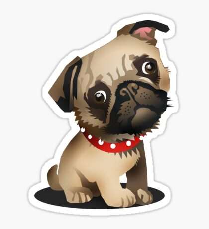 Pug pup Sticker