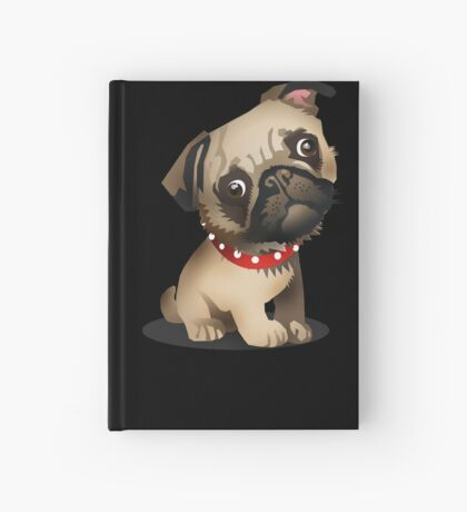 Pug pup Hardcover Journal