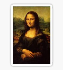 Mona Lisa by Leonardo Da Vinci Italian Art Sticker