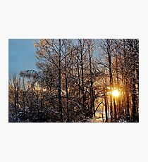 Shimmering Icy Sunset II Photographic Print