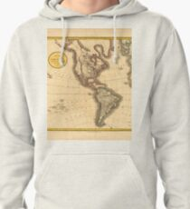 A new map of America, from the latest authorities Pullover Hoodie