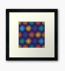 Abstract colorful dotted background Framed Print