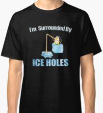 Ice Fishing Penguin Classic T-Shirt