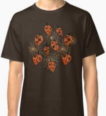 Orange Leaves With Holes And Spiderwebs Classic T-Shirt