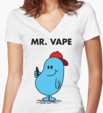 Mr.Vape Women's Fitted V-Neck T-Shirt