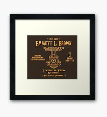 Emmett's Blacksmith Workshop Framed Print