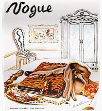 Póster Vintage Vogue Enero - 1936