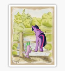 Twilight and Spike in Hundred Acre Wood Sticker