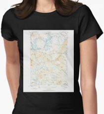 Maine USGS Historical Map Scraggly Lake 460841 1941 62500 Womens Fitted T-Shirt