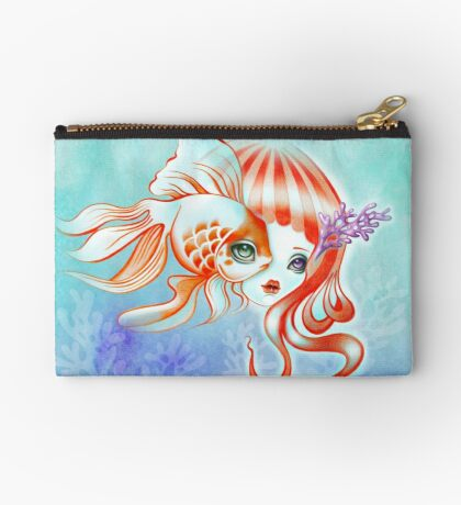 Dreamland Muses - Jellyfish Girl & Goldfish Zipper Pouch