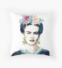 Watercolor Frida Kahlo  Throw Pillow
