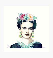 Watercolor Frida Kahlo  Art Print