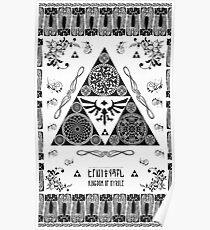 Kingdom of Hyrule Crest Letterpress Poster
