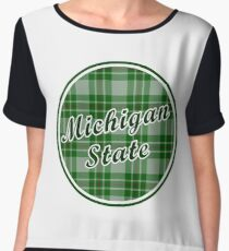 MSU Plaid Women's Chiffon Top
