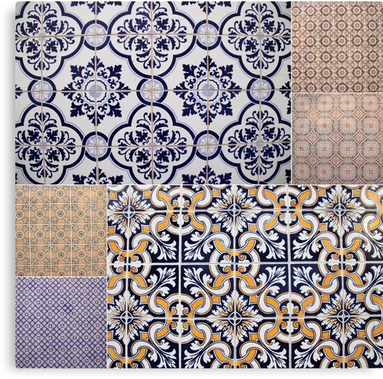 Portuguese Tile Collage by TalBright