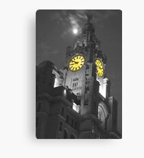 Liver Building Liverpool Monochrome and colour Canvas Print